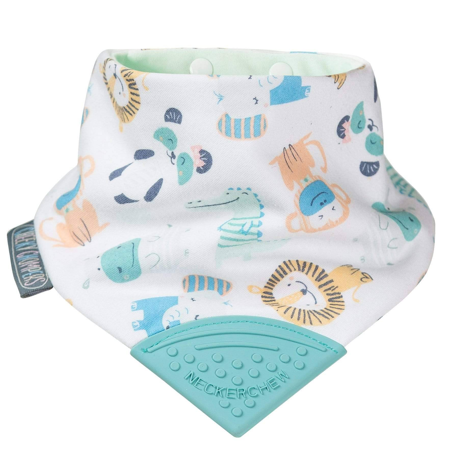 Cheeky Animals Neckerchew Teething Dribble Bib - Cheeky Chompers