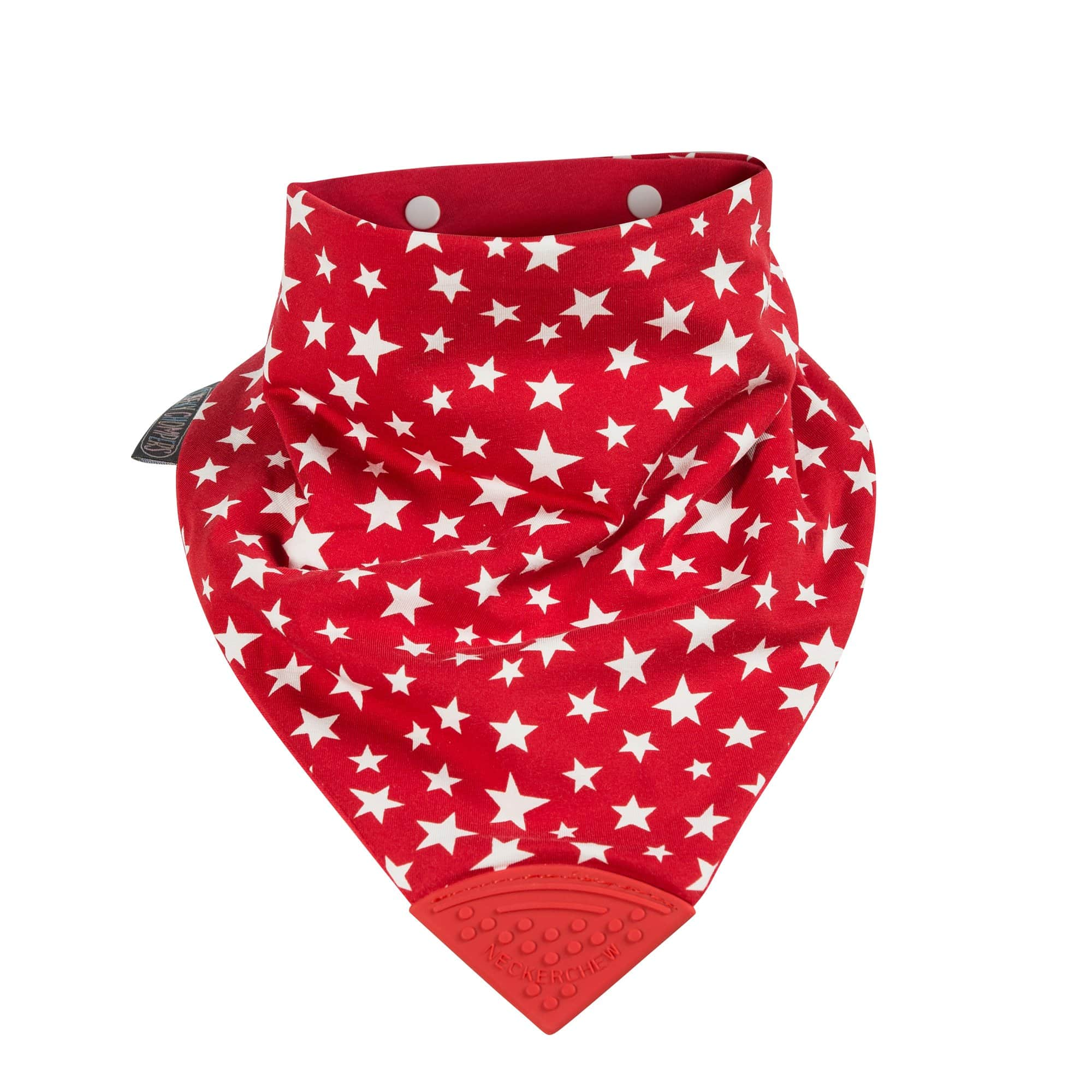 Red Stars Large Neckerchew - Cheeky Chompers
