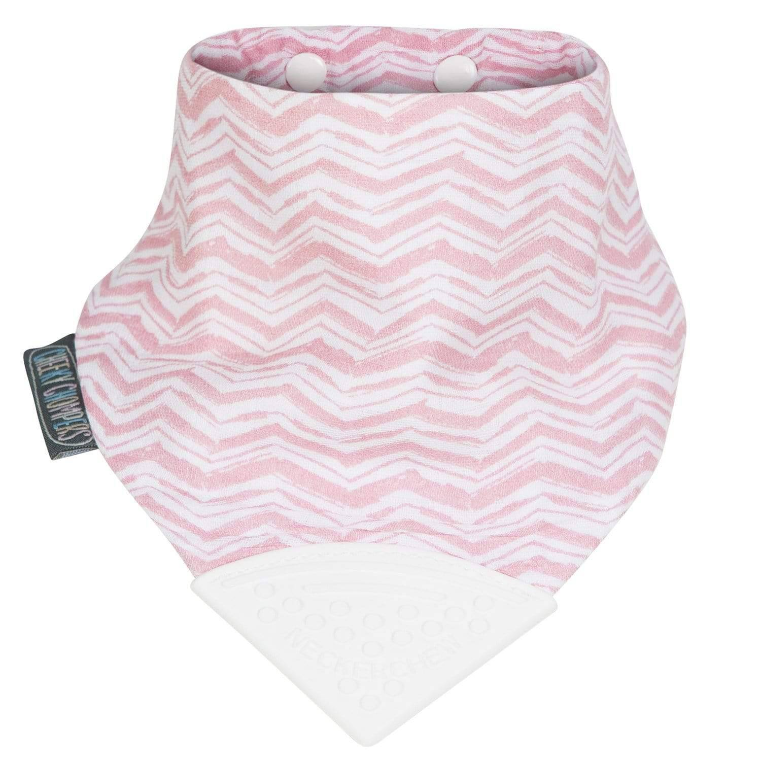 Rosy Days Muslin Neckerchew Teething Dribble Bib - Cheeky Chompers
