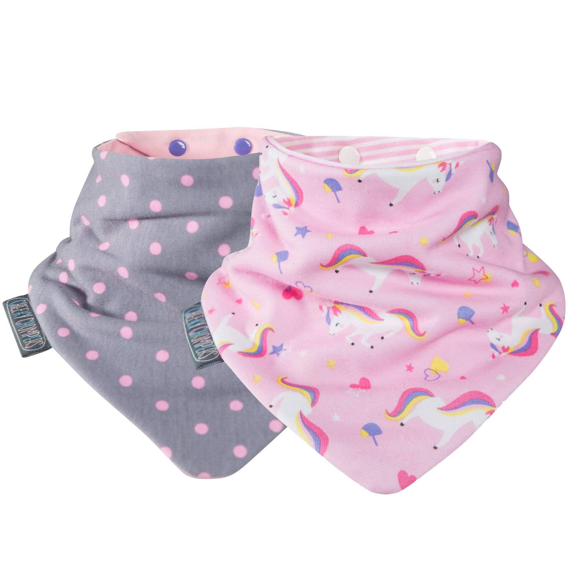 Unicorn & Dots Neckerbibs - Cheeky Chompers