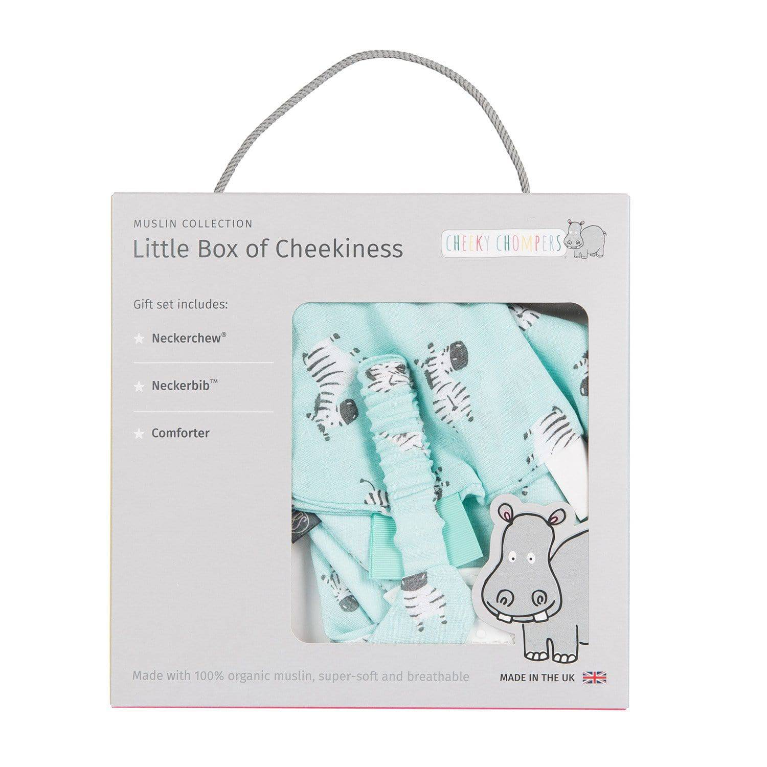 Zebra Dreams Organic Muslin Gift Set - Cheeky Chompers