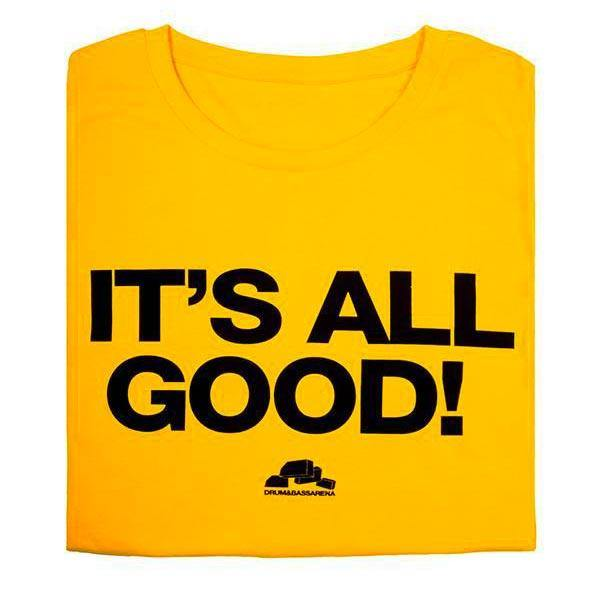 It's All Good tee - yellow - Drum&BassArena