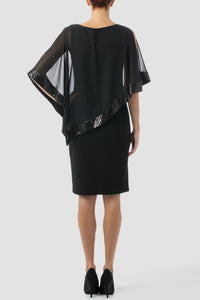 Joseph Ribkoff Overlay Dress - Black