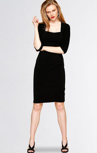 SACHA DRAKE - IRIS 3/4 SLEEVE DRESS IN TEXTURED JERSEY
