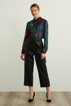 Load image into Gallery viewer, JOSEPH RIBKOFF Leatherette Wide Leg Pants Style 213587