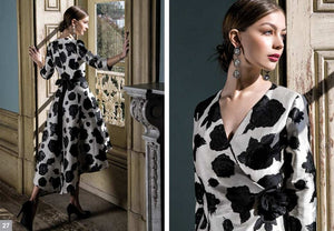 MICHAELA LOUISA ALINE BLACK AND WHITE DRESS 8975