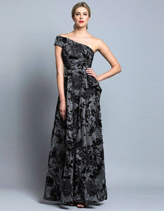 Bariano one shoulder gown