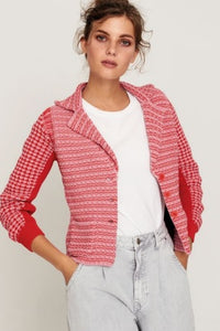 Aldo Martins knitted blazer - pink and red