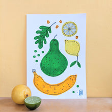 Load image into Gallery viewer, Fruit & veg - original gouache painting