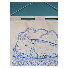 Load image into Gallery viewer, Seal hand-illustrated wall hanging