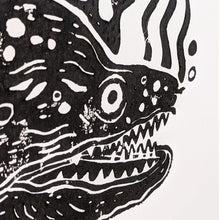 Load image into Gallery viewer, Moray eel lino print