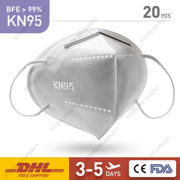 Face Mask Disposable mask KN95 - 99% Filtration Features KF94 FFP2