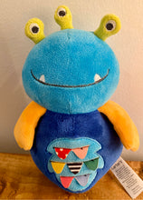 Load image into Gallery viewer, Carter's Blue Monster Alien Plush Rattle