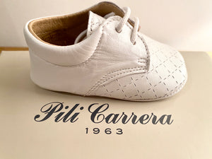 Pilli Carrera White Crib Shoes