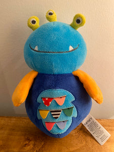 Carter's Blue Monster Alien Plush Rattle