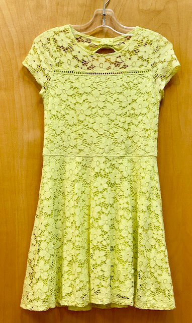Abercrombie Lace Neon Green Dress