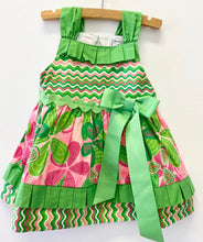 Load image into Gallery viewer, Mudpie Green Print Dress
