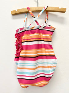 Stripe One Piece Bathing Suit