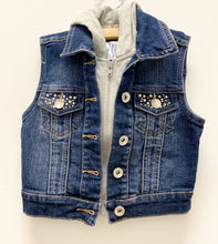 Load image into Gallery viewer, Justice Denim Studded Vest