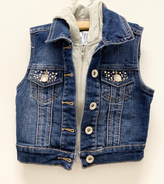 Justice Denim Studded Vest