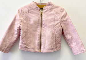 Oshkosh Pink Faux Leather Jacket