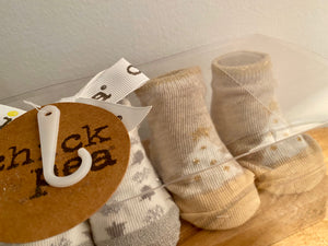 Chick Pea 3 Pack Newborn Booties Sock Set