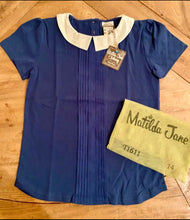 Load image into Gallery viewer, Matilda Jane Girls Navy Collar Shirt