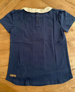 Matilda Jane Girls Navy Collar Shirt