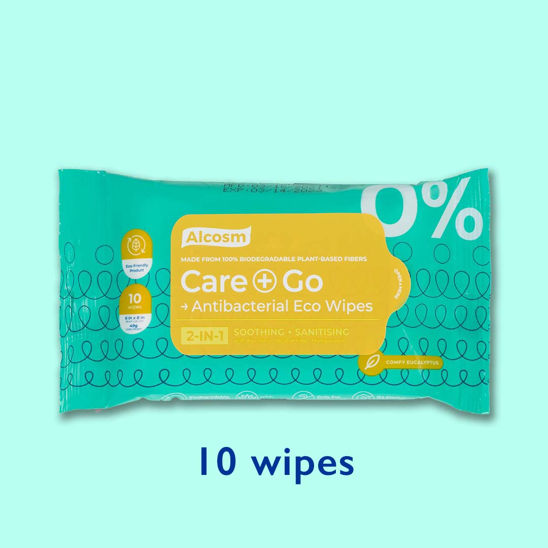 Antibacterial Eco Wipes - 10 Wipes