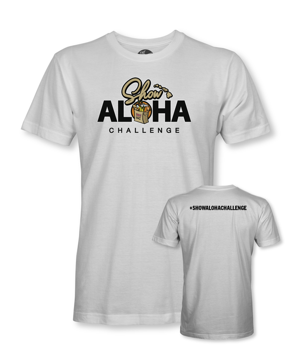 Adult #ShowAlohaChallenge Short Sleeve T-Shirt - White