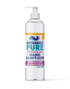 Naturally Pure Lemongrass Scented Hand Sanitizer 70% Gel 1L