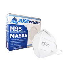 Load image into Gallery viewer, N95 Masks by JUST Breathe 10 count