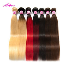 Load image into Gallery viewer, Ali Coco Peruvian Straight Hair 8-30 inch 1/3/4 Bundles Hair Natural #2/#4/ #613/ Human Hair Bundles Non Remy Hair Extensions
