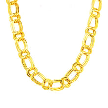 Load image into Gallery viewer, 18ct Vintage Flat Fancy Link Collier Necklace