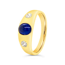 Load image into Gallery viewer, Sapphire and Diamond Gypsy Ring