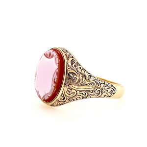 9ct Old Gold SardOnyx Signet Ring - SOLD