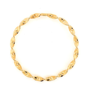 Vintage Italian Twist Bangle in Yellow Gold