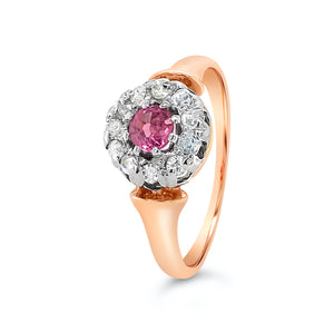 Antique Pink Sapphire ring - SOLD