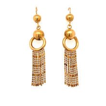 Load image into Gallery viewer, Antique Victorian 14ct Gold Bobble Fringe earrings.