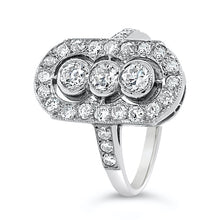 Load image into Gallery viewer, Art Deco Diamond Platinum Plaque Ring
