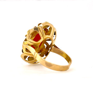 18ct yellow gold ring petals underneath melbourne
