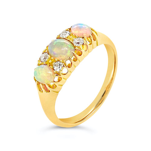 Opal and Diamond Dress Ring - SOLD