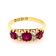 Load image into Gallery viewer, Victorian Ruby Diamond Bridge Ring