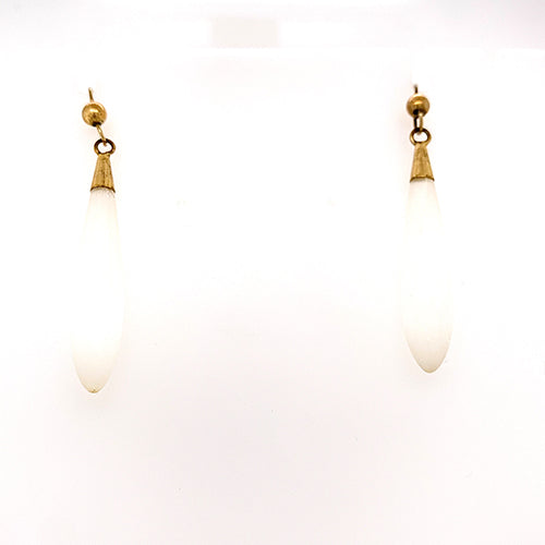 Vintage Selenite Drop Earrings