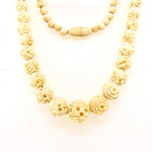 Antique Carved Ivory Strand