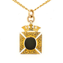 Load image into Gallery viewer, Maltese Cross Pendant with Crown