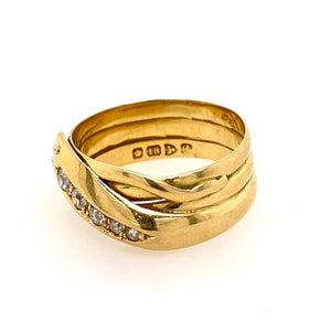 wide snake dress ring hallmarked melbourne