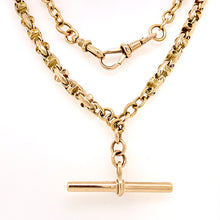 Load image into Gallery viewer, Fancy Link 9ct Gold Fob Chain