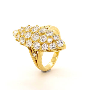 Vintage Diamond Marquise Shaped Ring