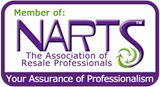 AngieKaye is an affiliate member of the National Association of Resale Professionals (NARTS)